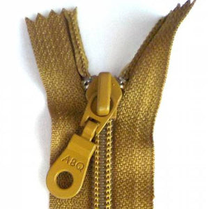 "Bag Zipper in Bronze Mist, Zipper, Among Brenda's Quilts, 14"" - Mad About Patchwork"