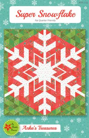 Super Snowflake, Pattern, Anka's Treasure, [variant_title] - Mad About Patchwork