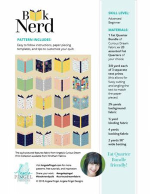 Book Nerd - by Angela Pingel Designs, Pattern, Thimble Blossoms, [variant_title] - Mad About Patchwork