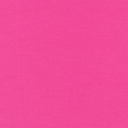 Kona Bright Pink, Solid Fabric, Robert Kaufman, [variant_title] - Mad About Patchwork