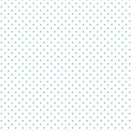 Swiss Dot Aqua on White, Designer Fabric, Riley Blake Designs, [variant_title] - Mad About Patchwork