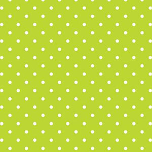 Swiss Dot White on Lime, Designer Fabric, Riley Blake Designs, [variant_title] - Mad About Patchwork
