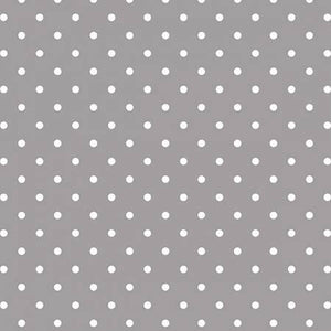 Swiss Dot White on Gray, Designer Fabric, Riley Blake Designs, [variant_title] - Mad About Patchwork