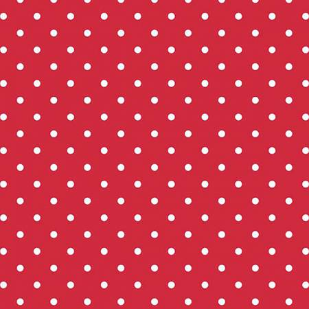 Swiss Dot White on Red, Designer Fabric, Riley Blake Designs, [variant_title] - Mad About Patchwork