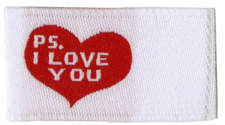 P.S I love you - Quilt Labels/Tags  6 pk, Fun Stuff, Riley Blake Designs, [variant_title] - Mad About Patchwork
