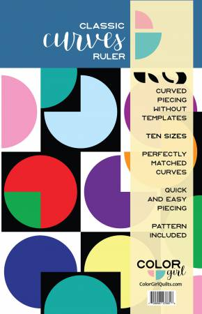 Classic Curves Ruler - by Color Girl Quilts - Curves with no Templates, Ruler, Color Girl Quilts, [variant_title] - Mad About Patchwork