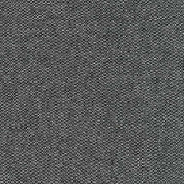 E064-1071 Essex Yarn-Dyed Charcoal Robert Kaufman