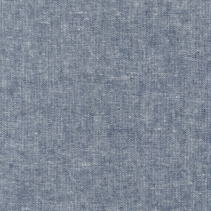 Essex Yarn-Dyed in Indigo, Specialty Fabric, Robert Kaufman, [variant_title] - Mad About Patchwork