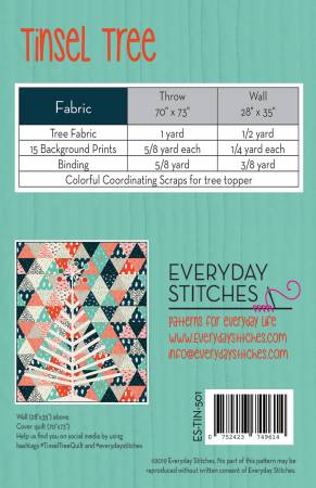Tinsel Tree, Pattern, Everyday Stitches, [variant_title] - Mad About Patchwork