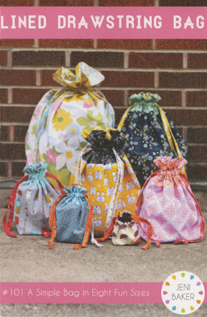 Lined Drawstring Bag, Pattern, Jeni Baker, [variant_title] - Mad About Patchwork