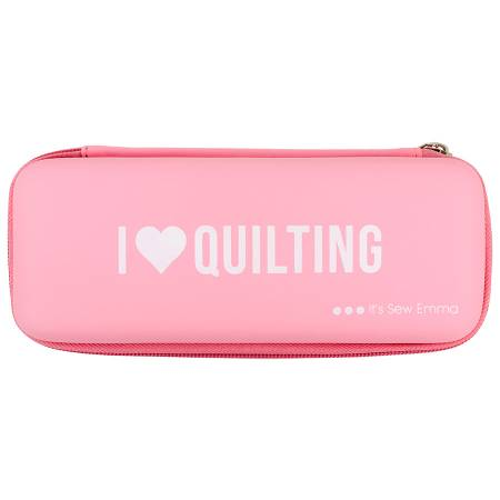 I Love Quilting - Pink Rotary Cutter Case - I Heart Quilting, notion, Sew Emma, [variant_title] - Mad About Patchwork