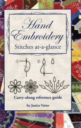 Hand Embroidery Stitches at-a-glance - Softcover, Pattern Book, Leisure Arts, [variant_title] - Mad About Patchwork