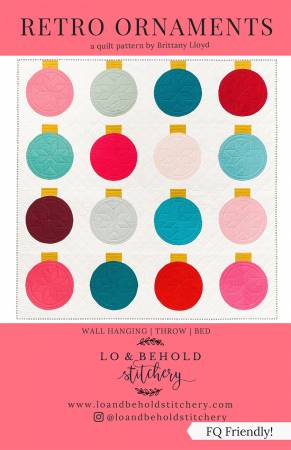 Retro Ornaments -for Lo & Behold Stitchery, Pattern, Lo & Behold Stitchery, [variant_title] - Mad About Patchwork