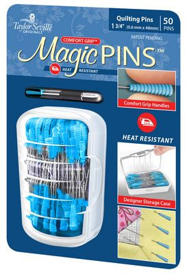 Magic Pins Regular Quilting 1.75 in 50 pins, Notions, Taylor Sewing, [variant_title] - Mad About Patchwork