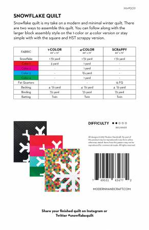 Modern Handcraft — Snowflake Pattern, Pattern, Modern Handcraft, [variant_title] - Mad About Patchwork