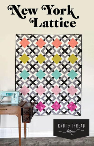 New York Lattice Quilt Pattern, Pattern, Knot & Thread Designs, [variant_title] - Mad About Patchwork