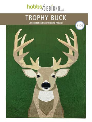 Trophy Buck Pattern (Foundation Paper Piecing), Kit, Hobbs Designs, [variant_title] - Mad About Patchwork