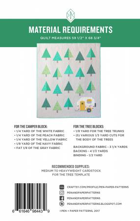 Up North - Camper Quilt Pattern, Pattern, Pen and Paper Designs, [variant_title] - Mad About Patchwork