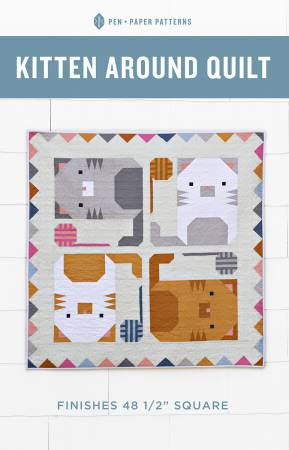 Pen + Paper — Kitten Around Quilt, Pattern, Pen + Paper, [variant_title] - Mad About Patchwork