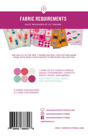 Pen + Paper Patterns — Be Mine, Pattern, Pen + Paper, [variant_title] - Mad About Patchwork
