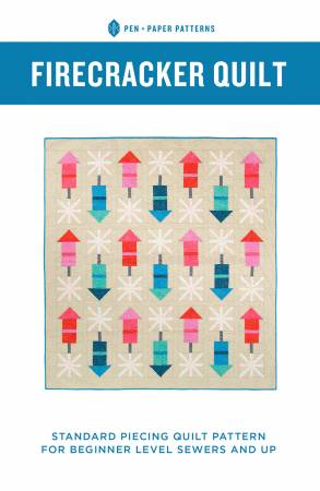 Pen + Paper Patterns —  Firecracker Quilt, Pattern, Pen + Paper, [variant_title] - Mad About Patchwork