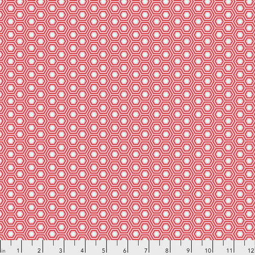 Hexy - Flamingo by Tula Pink - True Colors, Designer Fabric, Free Spirit Fabrics, [variant_title] - Mad About Patchwork