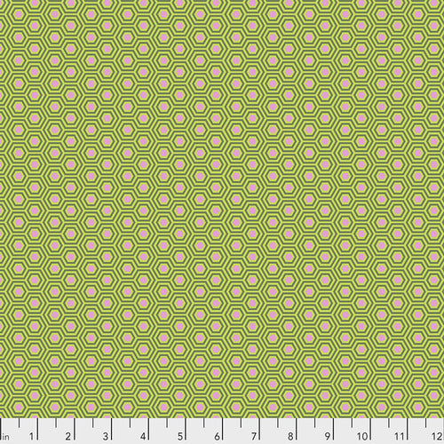 Hexy - Juniper by Tula Pink - True Colors, Designer Fabric, Free Spirit Fabrics, [variant_title] - Mad About Patchwork