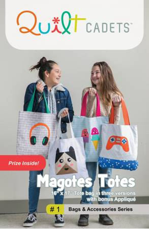Quilt Cadets - Magotes Totes - Tote Bag Pattern for Teens, Pattern, Latifah Saafir Studio, [variant_title] - Mad About Patchwork