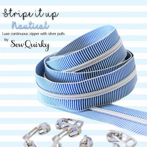 Nautical Stripe It Up Zipper by Sew Quirky, notion, Decorating Diva, [variant_title] - Mad About Patchwork