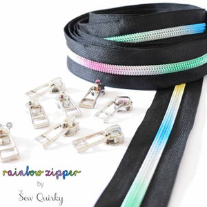 Black Rainbow Zipper by Sew Quirky, notion, Decorating Diva, [variant_title] - Mad About Patchwork