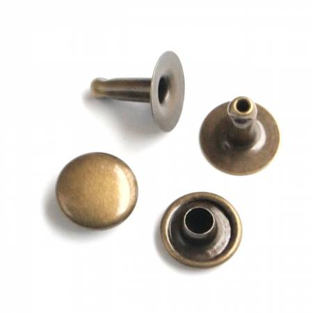 Rivets (Medium) Packages of 24, Hardware, Sallie Tomato, Antique Brass - Mad About Patchwork