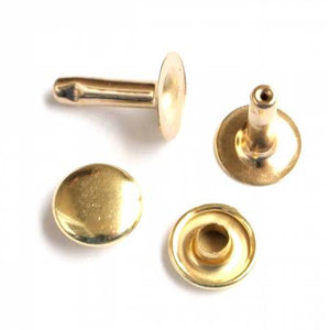 Rivets (Medium) Packages of 24, Hardware, Sallie Tomato, Gold - Mad About Patchwork