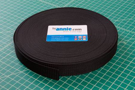 "1"" Polypro Strapping Black — By Annie's, Hardware, By Annies, [variant_title] - Mad About Patchwork"