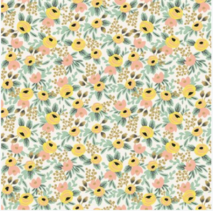 Primavera in Cream and Yellow Floral by Riffle Paper Co for Cotton and Steel, Specialty Fabric, Rifle Paper Co., [variant_title] - Mad About Patchwork