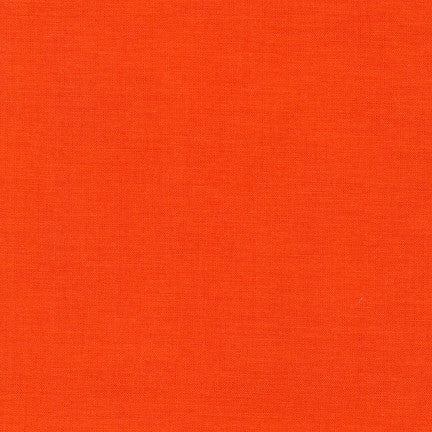 Kona Tangerine, Solid Fabric, Robert Kaufman, [variant_title] - Mad About Patchwork