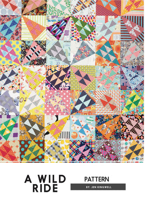 Jen Kingwell — A Wild Ride, Pattern, Jen Kingwell Designs, [variant_title] - Mad About Patchwork