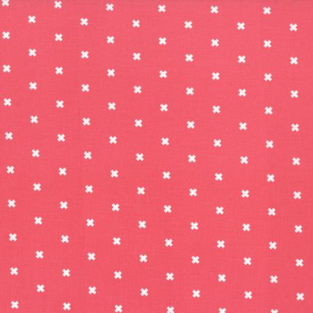 xoxo in Pink Cheeks by Cotton and Steel, Designer Fabric, Cotton + Steel, [variant_title] - Mad About Patchwork