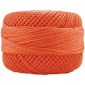 Presencia Perle 12 wt 1237 Tangerine, Thread, Presencia, [variant_title] - Mad About Patchwork