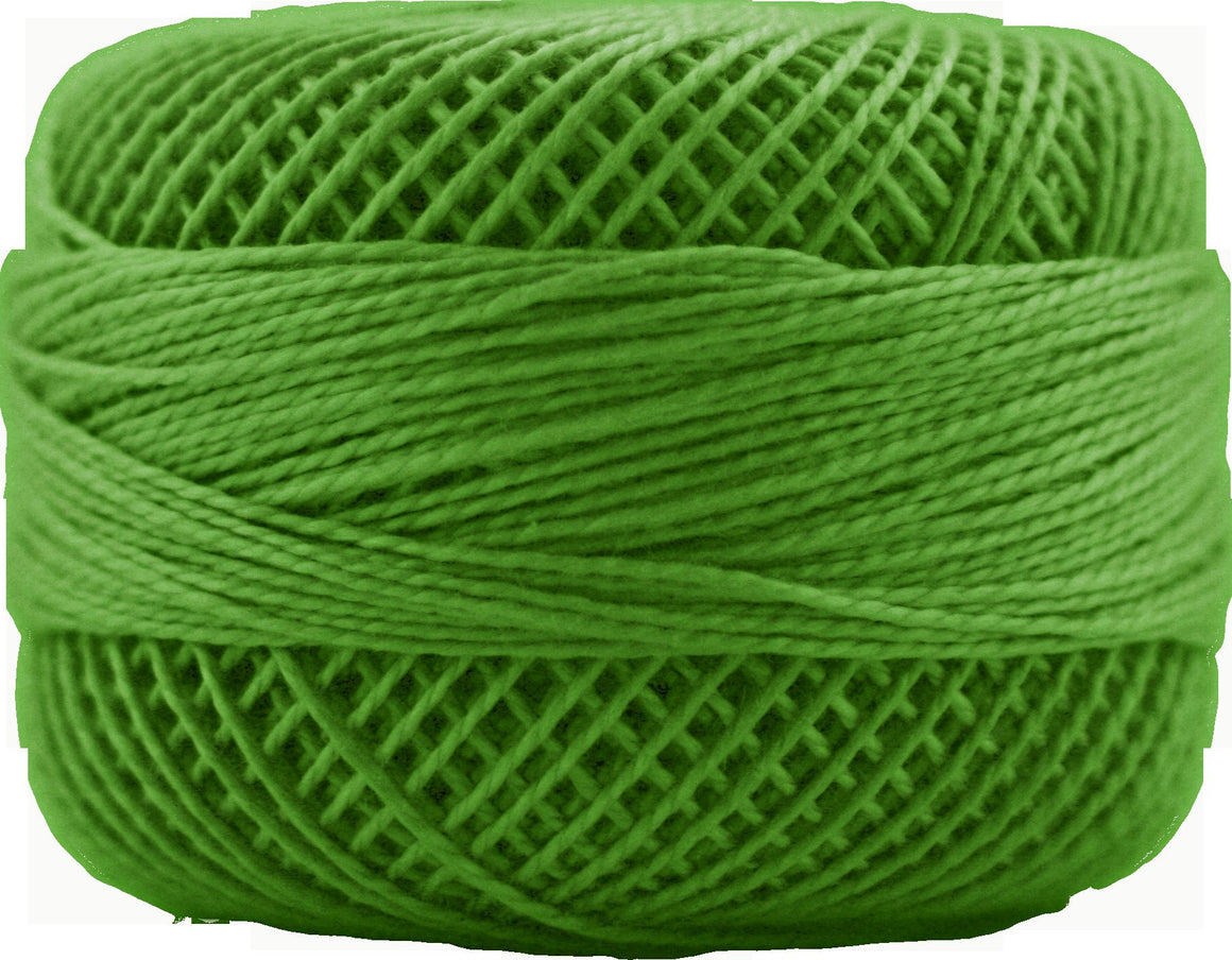 Presencia Perle 12 wt 4643 Kelly Green, Thread, Presencia, [variant_title] - Mad About Patchwork