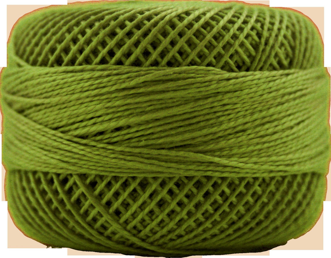 Presencia Perle 12 wt 4812 Moss Green, Thread, Presencia, [variant_title] - Mad About Patchwork