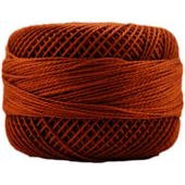 Presencia Perle 12 wt 7580 Red Copper, Thread, Presencia, [variant_title] - Mad About Patchwork