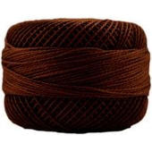 Presencia Perle 12 wt 7656 Dark Mahogany, Thread, Presencia, [variant_title] - Mad About Patchwork