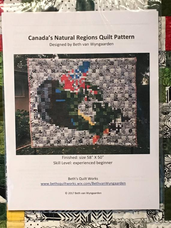 Canada's Natural Regions Quilt Pattern by Beth van Wyngaarden, Pattern, Mad About Patchwork, [variant_title] - Mad About Patchwork