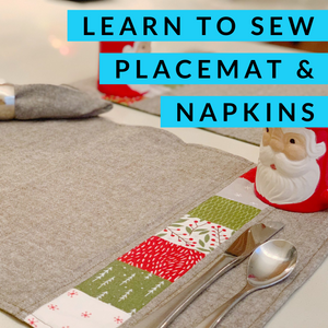 Learn to Sew: Napkins and Placemats, -[variant_title] - Mad About Patchwork, Mad About Patchwork.