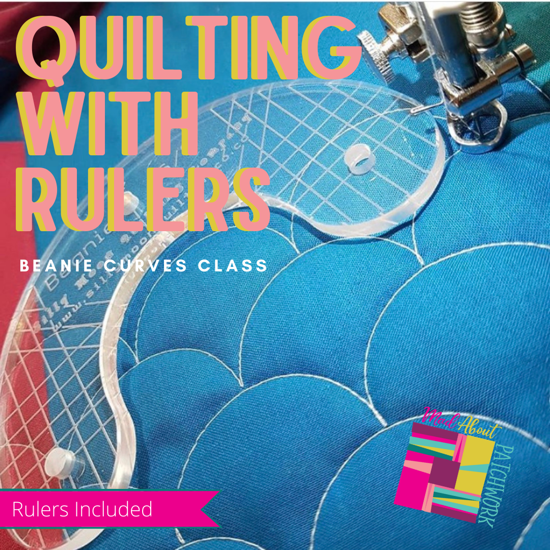 Quilting with Rulers - Amazing Curves with the Beanie Ruler (Rulers Included), Class, Silly Moon Quilt Rulers, [variant_title] - Mad About Patchwork