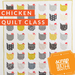Spring Chicken Fabric Swap and Class, Class, Mad About Patchwork, [variant_title] - Mad About Patchwork