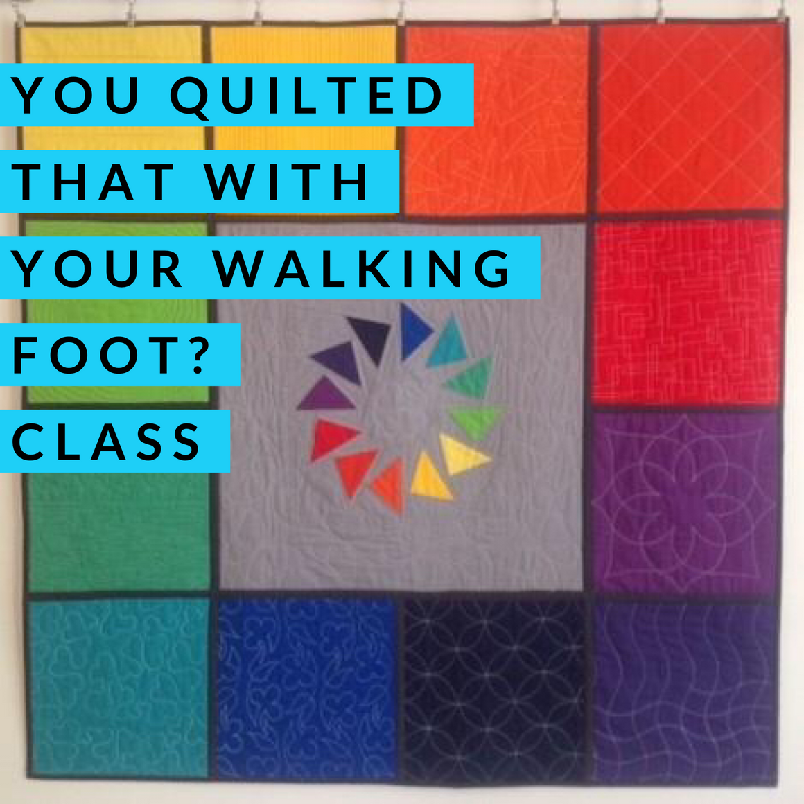 You Quilted That With Your Walking Foot? - 2 Day Extended