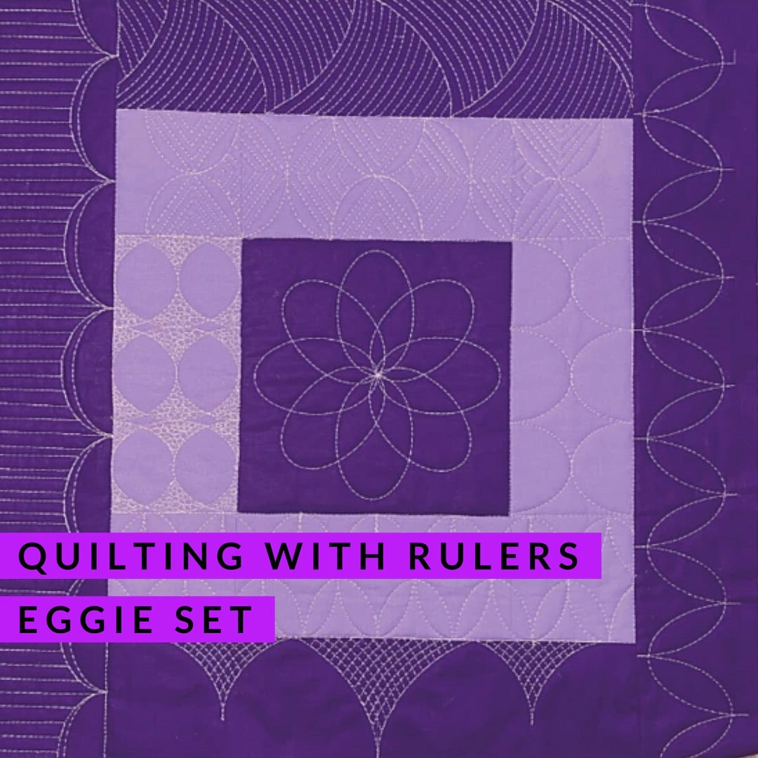 Quilting with Rulers - Eggie Rulers (rulers included), Class, Silly Moon Quilt Rulers, [variant_title] - Mad About Patchwork