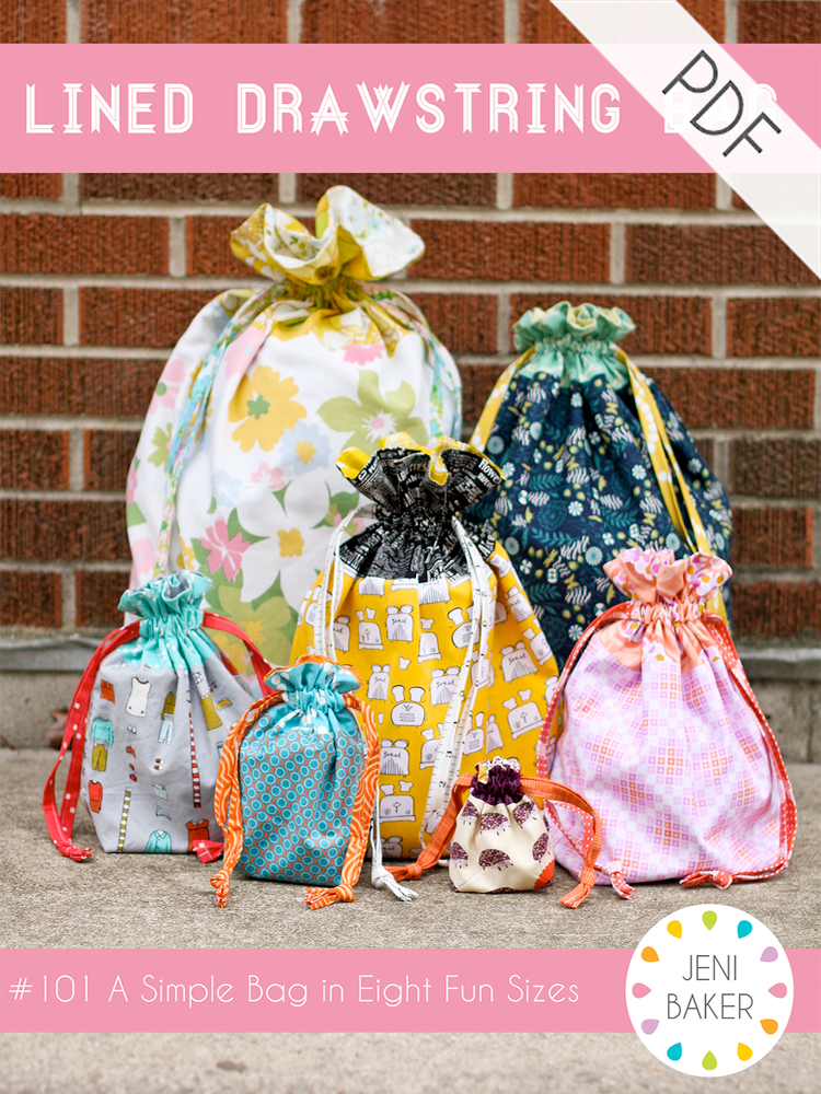 Lined Drawstring Bag PDF 0 by Jeni B for In Color Order, Pattern, Jeni Baker, [variant_title] - Mad About Patchwork