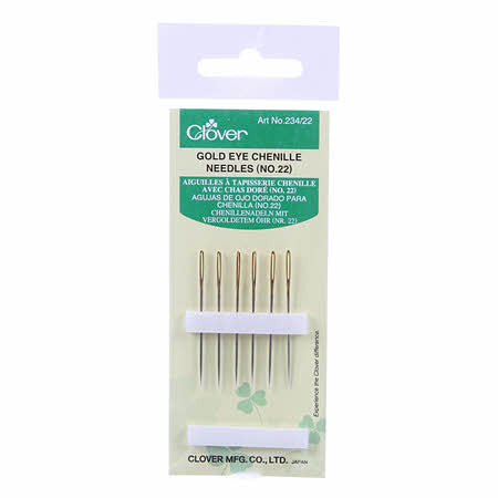 Gold Eye Chenille Needles, Notions, Clover, [variant_title] - Mad About Patchwork